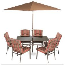 seater patio furniture set parasol royal craft amalfi  seater rectangular dining set with parasol sticker