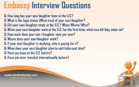 usa tourist visa interview questions 4 embassy interview questions
