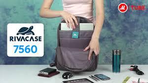 <b>Рюкзак</b> от <b>RIVACASE</b> Riva 7560 Gray для ноутбука - YouTube