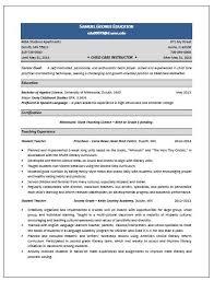 child care instructor resume sample   resume writing servicechild care instructor resume sample