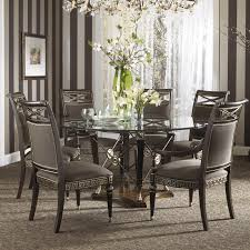 stylish brilliant dining room glass table:  room brilliant formal grecian style glass top dining set with six chairs fine with  piece dining
