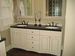 built bathroom vanity design ideas: design element contemporary double sink bathroom vanity with vessel sinks