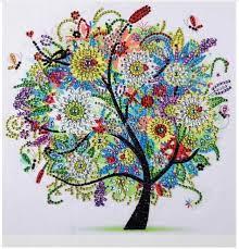 <b>Diamond Embroidery Winter Flower</b> Tree Special Shaped Diamond ...
