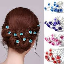 20pcs Crystals Bridal Rhinestone Hairpins Crystal Flower ... - Vova