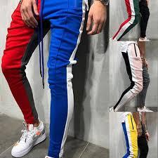 Mens Long Sweatpants Leisure Color Matching Design <b>Personality</b> ...