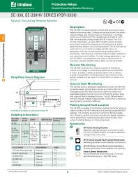 littelfuse protection relay controls catalog