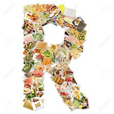 letter r food collage concept art stock photo picture and letter r food collage concept art stock photo 9691855