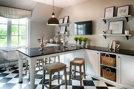 multipurpose home office design with unique table and quartz countertop design studio m interiors black and white home office