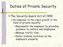 new york state security guard training chapter  introduction     duties of private security the security guard act of in response to the rapid
