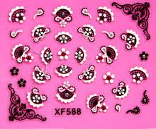2 Простыни XF 3D <b>наклейки для ногтей Nail</b> наклейки Кружева ...