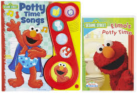 elmo s potty time play a song book board book shipping elmo s potty time songs book dvd