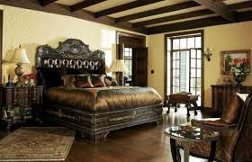 high end master bedroom furniture including antique king size bed with tufted leather headboard across venetian antique black bedroom furniture