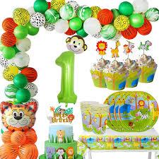 <b>MEIDDING Jungle Theme</b> Party Kids <b>Birthday</b> Party Cups Plates ...