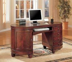 traditional kidney shaped computer secretary writing desk by coaster home furnishings 64124 some assembly home office furniture cherry finished