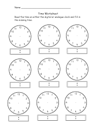 what time is it worksheet