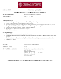 basketball coaching resume cover letter cipanewsletter basketball coach resume resume badak