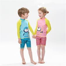 <b>Kids Swimsuit</b> Two Piece penguin cartoon <b>swimwear long</b> sleeve ...