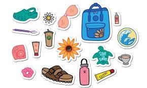 VSCO Girl <b>Stickers</b> // <b>Cute</b> Teen <b>Stickers</b> // Tween Girls | Etsy