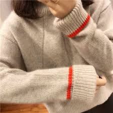 <b>2018 autumn</b> and Winter Thick High Collar <b>Pullover</b> Women loose ...