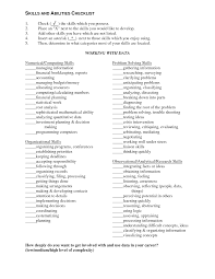 skills list resume sample cipanewsletter resume skills and abilities list examples sample customer