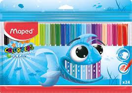 Купить <b>Фломастеры Maped COLOR</b>`<b>PEPS</b> OCEAN 845722 супер ...