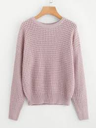 Pale Purple Hollow Out Long Sleeve <b>Sweater</b> | Надо попробовать в ...