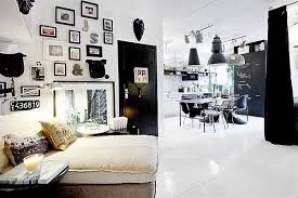 black white interior design apartment living black white interior design