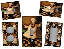 home decor impressive photo:  kitchen endearing fat chef kitchen home decor light switch plate ebay photo of new at