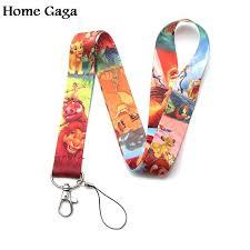 D0424 <b>Homegaga</b> cartoon Key Straps Naruto Tags Neck lanyard ...