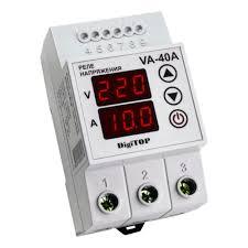 <b>Реле напряжения</b> с <b>контролем</b> тока <b>DigiTOP</b> VA-40A — купить в ...