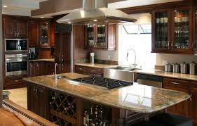 large granite kitchen island