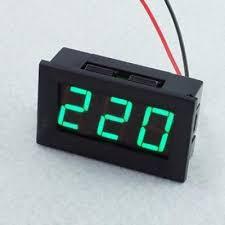 <b>3Pcs 0.56 Inch</b> Green AC70-500V Mini Digital Voltmeter Voltage Pa