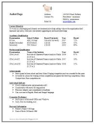 awesome one page resume sample for freshers resume format one page