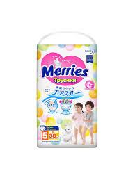 <b>Трусики</b>-<b>подгузники для детей</b> большие 12-22кг, 38шт MERRIES ...