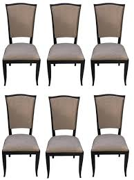 french art deco black lacquer dining chairs set of six art deco dining chairs