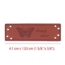 <b>10pcs</b> Newest Brown <b>PU</b> Leather <b>Handmade</b> Garment Embroidered ...