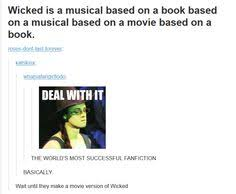 Wicked on Pinterest | Idina Menzel, Wicked Musical and Aaron Tveit via Relatably.com