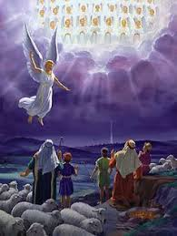 Image result for clipart angels  and shepherds in bethlehem