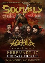 Soulfly and <b>Toxic Holocaust</b> at the Park Theatre – Tickets – The Park ...