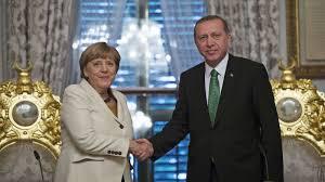 Resultado de imagen de angela merkel y erdogan