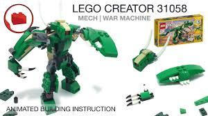 LEGO CREATOR 31058 alternative build tutorial - Lego MOC Mech ...