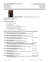 professional basketball player coaching resume sample