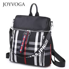 <b>Backpack Bag</b> Check Pattern <b>Fashion</b> School <b>Bag Outdoor Women</b> ...