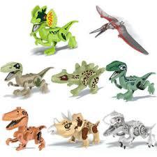 <b>8pcs</b> Dinosaur Toy DIY Building <b>Blocks Action</b> Figure Surprise DIY ...