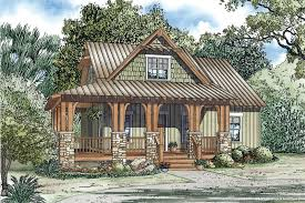 Silvercrest Craftsman Cabin Home Plan D    House Plans and MoreArts  amp  Crafts House Plan Front of Home   D    House Plans and