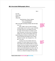 Examples Bibliography Cards Apa Format Cover Letter Templates  Annotated Bibliography     lbartman com