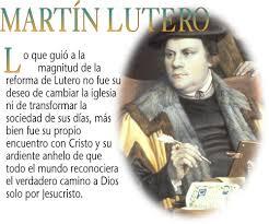 Resultado de imagen de martin lutero y su pensamiento