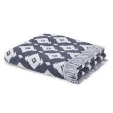 <b>Полотенце</b> банное из жаккардовой ткани ika серо-синий/белый ...