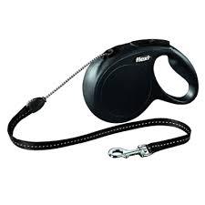 <b>Рулетка FLEXI New CLASSIC</b> трос M, 8 м, 20кг, черный — купить ...