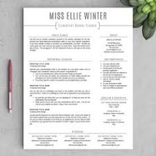 ideas about teacher resumes on pinterest   letter for    teacher resume template for word  amp  pages      and  page resumes included    resume writing guide   teacher cv template   instant download